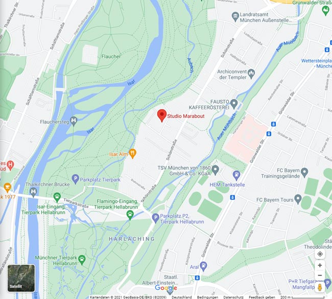 Studio Marabout auf Google Maps